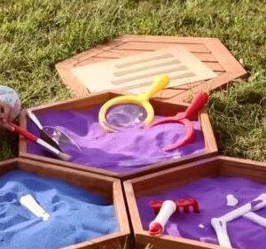 Hexagonal Outdoor Sorting Trays - Set of 8
