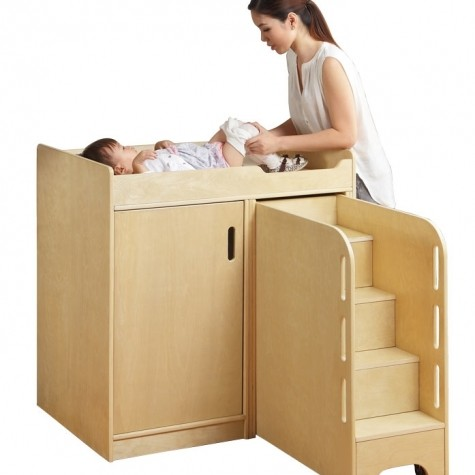 Walk Up Baby Changing Table with Steps