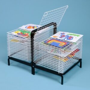 Spring Loaded Drying Rack - 30 Shelf