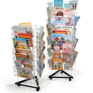 3 Sided Mobile Book Rack