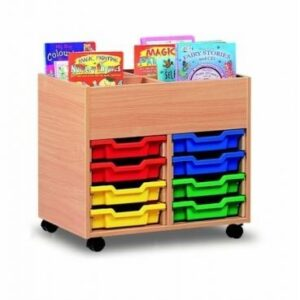 4 Bay Kinderbox with Tray Storage