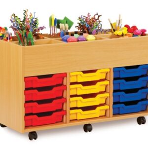 6 Bay Kinderbox with Tray Storage