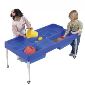 Discover sand and water table allows children to explore and discover sand and water in the nursery