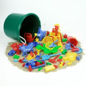 Sand and Water Play Set in Giant Tub