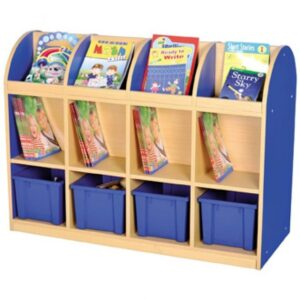 Milan Double Sided Mobile Storage with 4 Trays