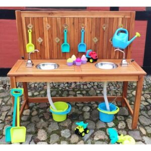 Outdoor Play Kitchen with Double Sink