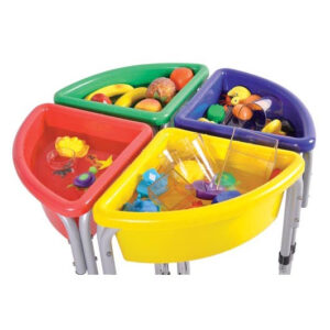 Sand and Water Play Tubs - Quarter Circle