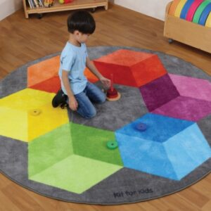 Rainbow Circular Polygons Carpet