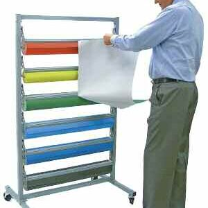 Poster Paper Rolls - Pk 6 with FREE Dispenser Rack