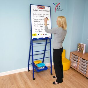 Mobile magnetic dry wipe easel