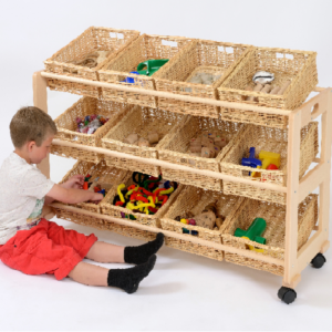 Single Sided Classroom Tidy - 12 Baskets