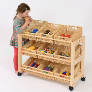 Single Sided Classroom Tidy - 9 Baskets