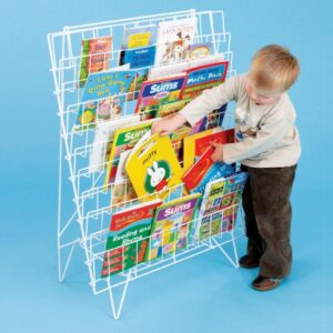 Single Sided Wire Book Rack
