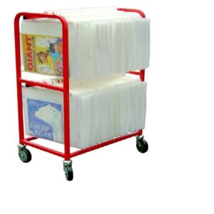 Small Double Tier Big Book Trolley