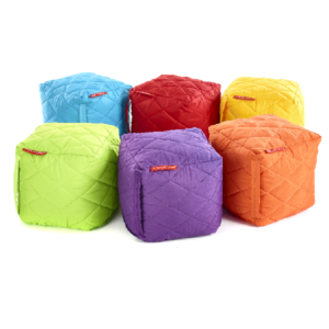 Small Quilted Bean Cubes - Set of 6