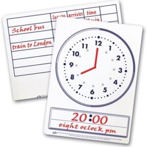 Time Dry Erase Boards - Pk 30