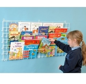 Horizontal Wall Wire Book Rack