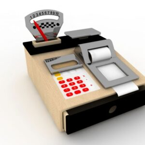 Wooden Cash Register & Play Scales