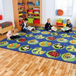 Bug Placement Carpet - up to 30 pupils - delightful bug on each placement spot