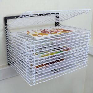 Spring Loaded Wall Drying Rack -15 Shelf